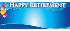 Retirement Banners Personalised Retirement Banners Partyrama Co Uk