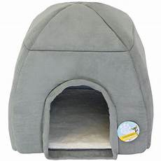 me my soft large grey cat igloo pet bed warm