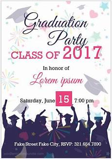 Free Party Templates For Word 10 Best Graduation Party Invitation Card Templates Ms Word