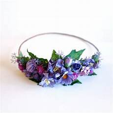 purple diy flower crown kit bachelorette party floral