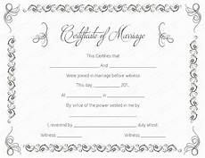 Printable Marriage Certificate Printable Marriage Certificate Templates 10 Editable