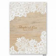 Lace Wedding Invitation Wood And Lace Invitation Invitations By Dawn