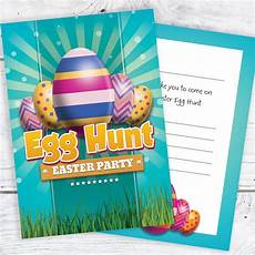 Egg Hunt Invitations Easter Egg Hunt Party Invitations Ready To Write With