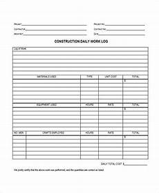 Daily Construction Log Free 31 Sample Daily Log Templates In Pdf Ms Word