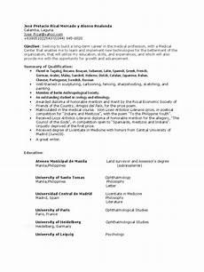 Resume Search Philippines Rizal Resume Philippines