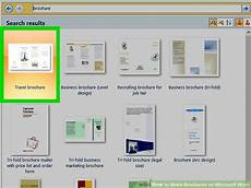 Make A Brochure On Word How To Make Brochures On Microsoft Word With Pictures