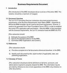 Sample Word Document Business Requirements Document 7 Free Pdf Doc Download