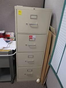 4 drawer metal file cabinet beige 18x52