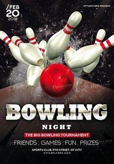 Bowling Flyer Bowling Psd Flyer Template 22234 Styleflyers