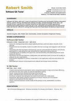 Qa Sample Resume Software Qa Tester Resume Template Ipasphoto