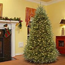 7 5 Foot Dual Light Christmas Tree Shop 7 5 Foot Dunhill Fir Hinged Tree With 700 Low Voltage