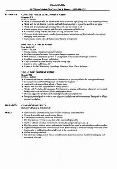 Art Resume Sample Visual Artist Resume Samples Velvet Jobs