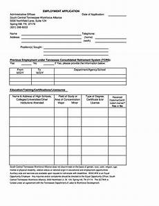 Employment Application Forms Free 50 Free Employment Job Application Form Templates