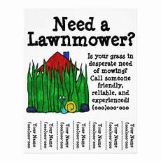 Lawn Mower Flyers Lawn Flyers Amp Programs Zazzle