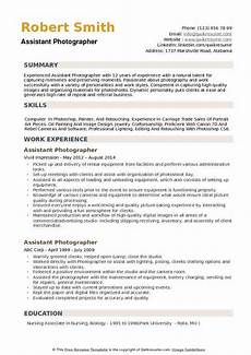 Sample Photography Resume 11 12 Resume Samples For Photographers Lascazuelasphilly Com