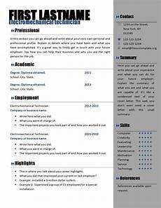 Cv To Download Free Curriculum Vitae Templates 466 To 472 Free Cv