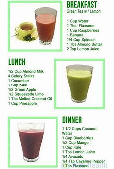 one day three smoothie detox diet loss healthy drinks