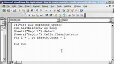 Using Vba To Create Charts In Excel How To Generate Reports In Excel Using Vba Youtube
