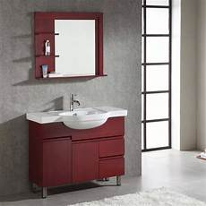 wood brown color wall mounted makeup bathroom base cabinet