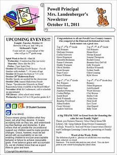 Newsletter Examples For Schools Thenbxpress Com Elementary Schools School Classroom