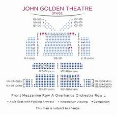 Marks And Harrison Amphitheater Seating Chart John Golden Theatre Broadway Seating Charts