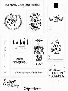 Christmas Labels Black And White Christmas Tags Skip To My Lou