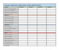 swot analysis excel template 45 swot analysis template word excel pdf ppt free