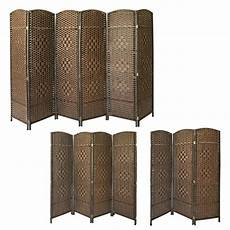 folding solid wicker room divider privacy screen made