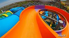 Blue Slides 4k Blue Amp Orange Water Slides N Wild Las Vegas