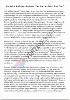 Rhetorical Analysis Essay Sample Writing Assignment Guide With Essay Examples