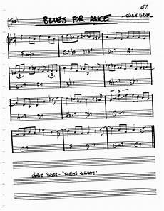 Alice In Wonderland Jazz Chart Jazz Standard Realbook Chart Blues For Alice Guitar