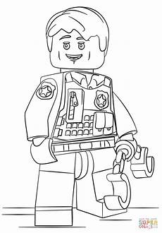 lego undercover officer coloring page free