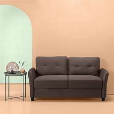 zinus contemporary upholstered sofa loveseat