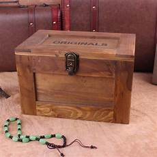 treasure chest wooden lockable storage box cosmetic secret