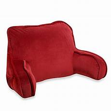 plush backrest pillow in bed bath beyond