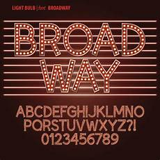 Broadway Fonts Free Download Light Bulb Font Vector Material Best Free Vector
