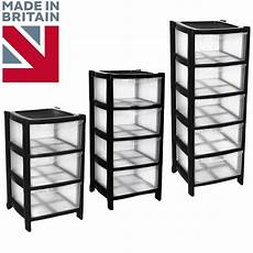 black drawer plastic large tower storage chest unit with