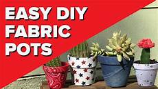 diy fabric covered pots easy decoupage crafts that make