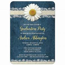 Graduation Party Invitation Graduation Party Invitations Daisy Burlap And Lace Denim