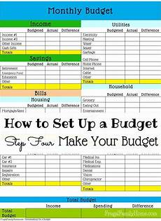 Making A Budget Planner How To Set Up A Budget Make Your Budget Setting Up A