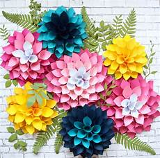 Paper Flower Template Mama S Gone Crafty Diy Giant Dahlia Paper Flowers How To