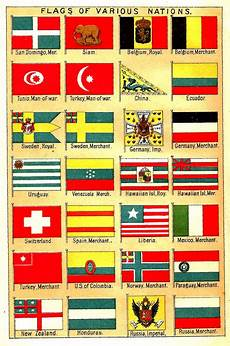 Flags Of The World Chart Printable Antique Images Free Flag Clip Art Antique Illustrations