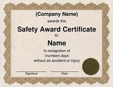 Safety Award Certificate Template Free Word Certificate Templates Amp Wording Geographics