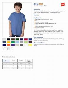 Hanes Chart Hanes 5450 Youth Tagless T Shirt 2 80 Youth S T Shirts