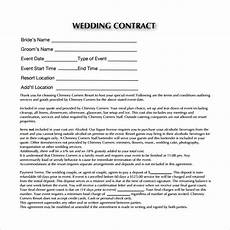 Free Wedding Contract Template Free 23 Wedding Contract Templates In Google Docs Ms