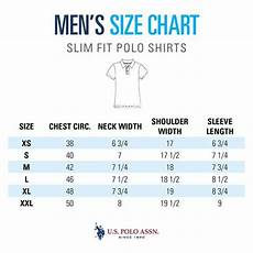Polo Ralph Size Chart Mens Size Guide Men S Slim Polo Shirts U S Polo Assn