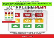 1 Page Marketing Plan Best Selling The 1 Page Marketing Plan Get New Customers
