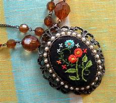 stephens diy car crafts an embroidered necklace