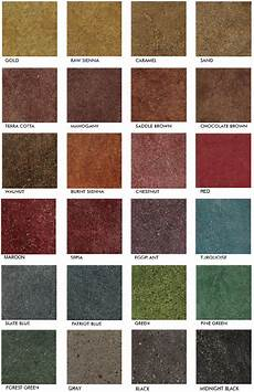 Stained Concrete Colors Chart Stained Polished Concrete Color Chart Glossy Floors