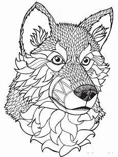 free wolf coloring pages for adults printable to